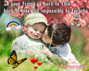 ... Friendship Quote Wallpaper For Facebook | A Good Friend is Hard to