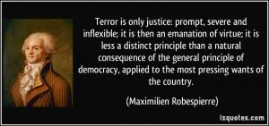 maximilien robespierre reign of terror