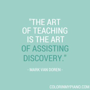The art of teaching is the art of assisting discovery.""