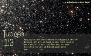 Bible Quote Judges 1:3 Inspirational Hubble Space Telescope Image
