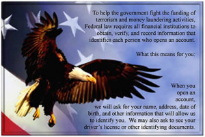 USA Patriot Act Notice