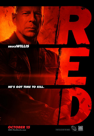 RED movie poster, Bruce Willis (Frank)