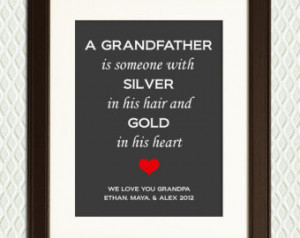 Gift or Father's Day Gift for GRANDFATHER - Personalized Quote ...