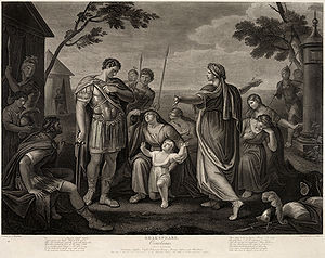 Coriolanus , Act V, Scene III. Engraved by James Caldwell from a ...