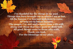Giving Thanks For My Many Blessings