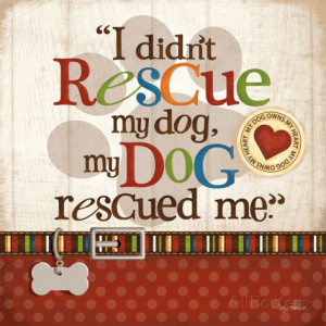 Rescue Dog Art Print