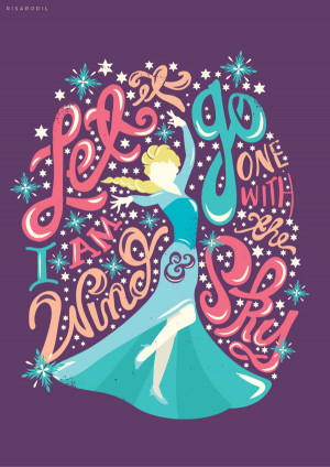 Disney Frozen Sister Quotes Beautiful typography quote of