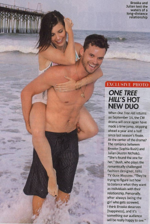 One Tree Hill TVGuide Scan: Brooke/Julian Exclusive Photo