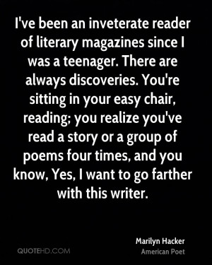 ve been an inveterate reader of literary magazines since I was a ...
