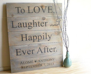 Custom Wedding Signs - Rustic Barn Wood Pallet - Country Farm Outdoor ...