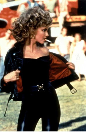 Legend has it, Olivia Newton-John had to be sewn into the super tight ...