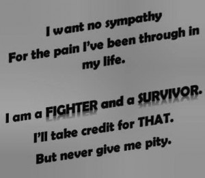 am a fighter and a survivor