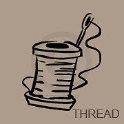 Sew Thread Bobbin Vinyl Vynil Trendy Removable Decal Sticker Wall Art ...