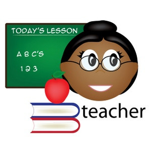 Teacher Clipart Image: Female African American Teacher Teaching Math ...