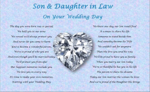 son daughter in law wedding day poem gift from united