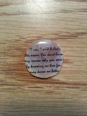Aslan Quote Pendant by Daughter-of-Aslan