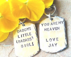 ... chains, personalized key chains,daddy's little girl, gifts from dad