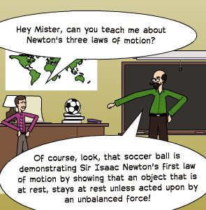 ... Mister, can you teach me about Newton's three laws of motion? | Of