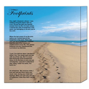 footprints poem printable version