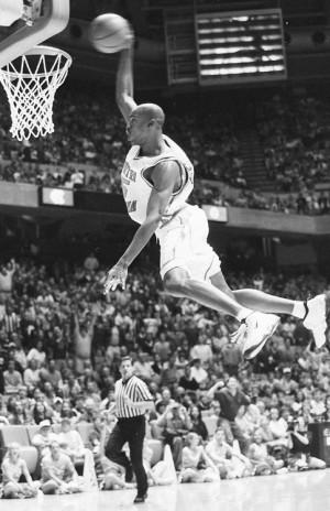 NBA Basketball Black and White nike dunk slam north carolina UNC tar ...
