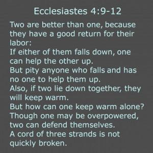 This is a common bible verse used in weddings. You can use a short ...
