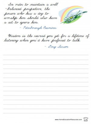 quotations in cursive handwriting free printable packet from ...