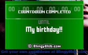 My Birthday countdown Image