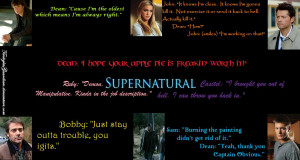 Jeϟϟi's Groupies ♠ Supernatural Quotes