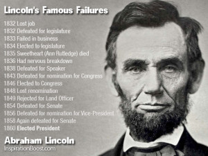 Famous Failures Abraham Lincoln