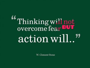So what we learned is that fear keeps us safe, but can sometimes also ...