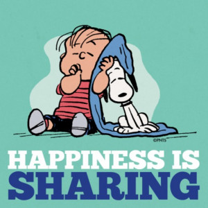 Happiness Is Sharing - Happiness Is Linus and Snoopy