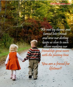 We met by chance and turned into friends Love quote pictures