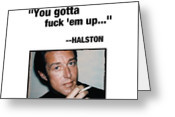 halston #fashion #quotes Greeting Card by Prepster Punk