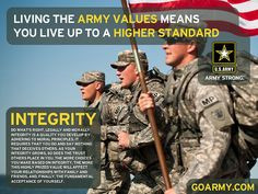 Army values on Pinterest   Armies, Military Humor and Soldiers