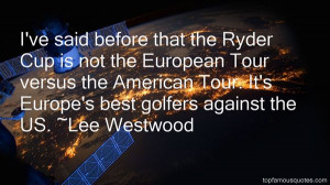 Ryder Cup Quotes