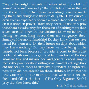 "Jeffrey R. Holland, ""A Prayer for the Children,"" Ensign, May 2003 ..."