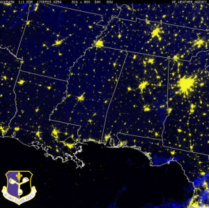 New Images of United States Satellite at Night