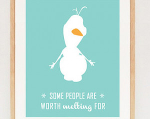 Olaf Quote - frozen Photo