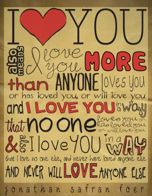 ... Quotes About Love: Song Quotes About Love I Love You More Than Anyone