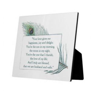 True Love Quote Husband Wife Wedding Plaque