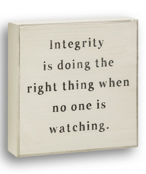 White 'Integrity' Box Sign | Daily deals for moms, babies and kids