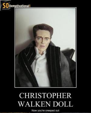christopher walken motivational poster