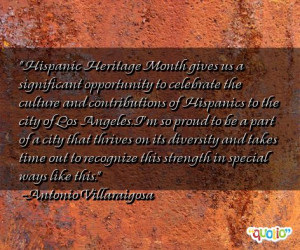 Hispanic Heritage Month gives us a significant