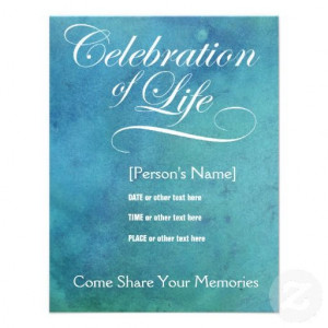 Elegant Celebration of Life Memorial Invitation