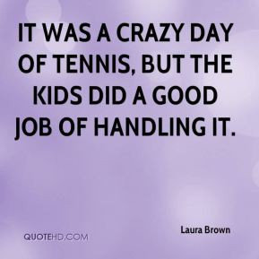 It was a crazy day of tennis, but the kids did a good job of handling ...