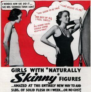 Seventy years ago women worried about being too skinny