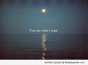 You Are What I Want