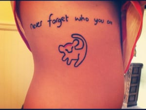 ... , cute, cute tattoos, disney, girls, girly tattoos, lion king, quotes
