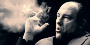 sopranos4 duo RIP James Gandolfini The Finest Cigar Smoking Mafia Boss ...