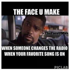 Yep. Don't be touching my radio.#shitidontlike More